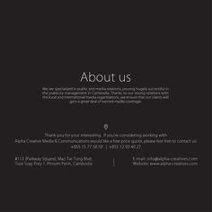 www.alpha-creatives.com | info@alpha-creatives.com | 015 77 58 59 | 012 93 40 27