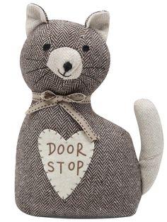 M Homeware Cat doorstop Owl Doorstop, Doorstop Pattern, Cat Crafts, Kids Crafts, Lavender Bags, Fabric Toys, Patchwork Bags, Door Stop, Wool Applique