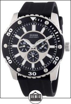 Guess W10616G1 - Reloj cronógrafo de cuarzo para hombre con correa de silicona, color negro de  ✿ Relojes para hombre - (Gama media/alta) ✿