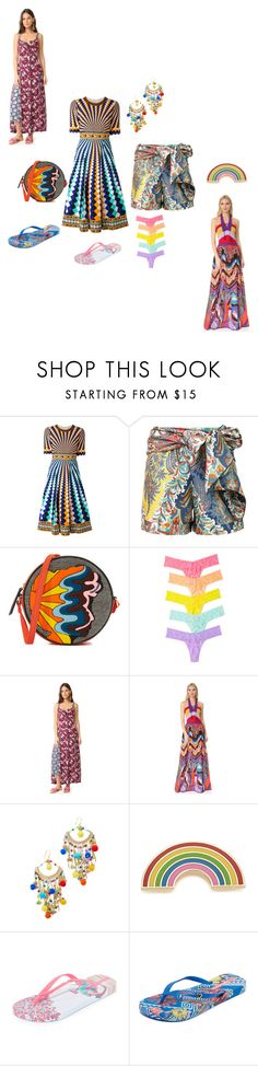 """summer collections"" by ramakumari ❤ liked on Polyvore featuring Mary Katrantzou, Oscar de la Renta, Olympia Le-Tan, Hanky Panky, Cinq à Sept, Roberto Cavalli, Rosantica, Georgia Perry, IPANEMA and summertime"