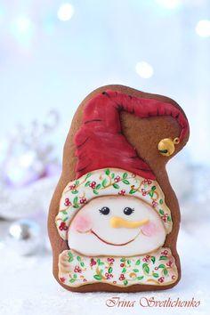 Snowman shabby chic berries