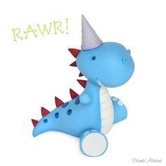 Cute Dinosaur Topper TUTORIAL / free, dino, part, kids, fondant, gum paste, cake