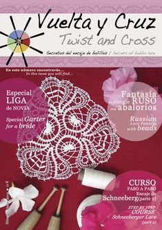 Vuelta y Cruz Nº5: Revista de bolillos / Twist and Cross N.5: Bobbin lace magazine (11€)