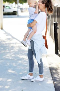 OUTFIT 1: ORANGE MATERNITY TEE  | |  MATERNITY JEANS c/o A PEA IN THE POD OUTFIT 2: LEVI'S 700 SERIES JEANS VIA ZAPPOS  | |  WHITE TEE  | |  CHAMBRAY SHIRT | |  CONVERSE OUTFIT 3:  SIMILAR SWEATER  |