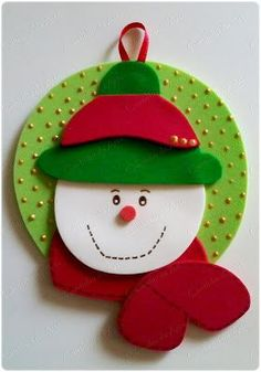 Best Christmas Gifts, Felt Christmas, Christmas Projects, Foam Crafts, Diy And Crafts, Crafts For Kids, Felt Ornaments, Christmas Tree Ornaments, Xmas Drawing