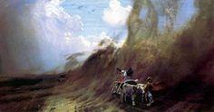 Nikolay Dubovskoy Uragan v stepi 1890 - Dubovskoy Nicholas Nikanorovich - Wikipedia