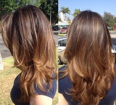 Слоистая стрижка на длинные волосы