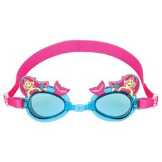 Stephen Joseph brings fun & unique accessories to your little one. Goggles feature a colorful mermaid design, a soft frame, and adjustable strap. Little Swimmers, Mermaid Swimming, Golf Shop, Funky Design, Baby Alive, Little Girls, Little Ones, Round Sunglasses, Mirrored Sunglasses