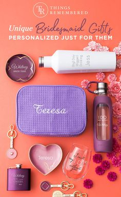 Find personalized bridesmaid gifts at Things Remembered! From monogrammed robes to engraved bracelets, we have custom gifts for bridesmaids sure to please. Gifts For Wedding Party, Wedding Wishes, Fall Wedding, Our Wedding, Destination Wedding, Wedding Planning, Dream Wedding, Party Gifts, Wedding Bells