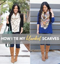 How I Tie My Blanket Scarves [Video Tutorial] + 10 Affordable Blanket Scarf Options