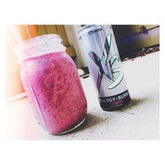 Kayla Anderson starts her day out right! Strawberry XS Energy+Burn, frozen mixed berries, frozen banana, Nutrilite vanilla whey protein, and peanut butter. What's your favorite XS smoothie recipe? —  http://www.amway.at/user/maurermarco or https://www.facebook.com/xsnation