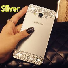 Perfect Pink Samsung Note 4 S5 Bright Diamond Cases Or Covers With Metal Frame For Girls SNT02 | Cheap Cell-phone Case With Keyboard For Sale