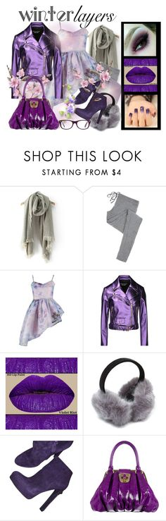 """""""Winter Layers: Slip Dress"""" by slynne-messer ❤ liked on Polyvore featuring Eberjey, By Sun, Boutique Moschino, Alexander McQueen, Ray-Ban, women's clothing, women's fashion, women, female and woman"""