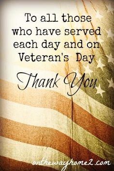 Thank you Veterans.