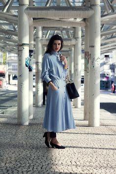 La Coquette Miseráble: VINTAGE BLUE DRESS { & TILES }