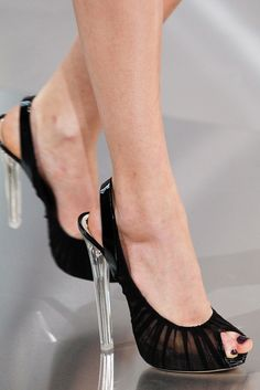 Dior Spring 2012 Couture open toe pumps