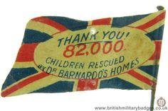 Barnardo's.WW1 Fundraising Flag Day