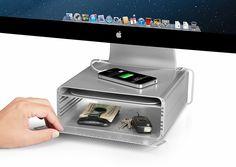 Adjustable stand for iMac 'HiRise'.
