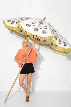 Magical Thinking Floral Medallion Umbrella from UO