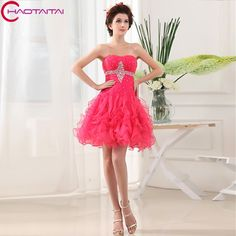 >> Click to Buy << Sexy Pleats Cocktail Party Dresses Sleeveless Organza Sweetheart Neck Backless Short Mini Homecoming Dress New Ruffles 2017 #Affiliate