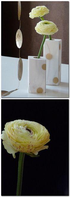 Kleine Vasen aus Kantholz gemacht - Vase aus Holz DIY