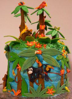 Rainforest Birthday Cake on Cake Central