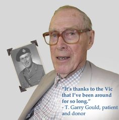 Read Mr. Gould's story: A WWII vet who got melanoma and was treated at the Vic.