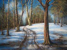 Kerstin Birk Kunst Landschaft: Winter Natur: Wald Neuzeit Realismus