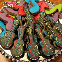 VERY COOL guitar & music notes cookie set!                              …