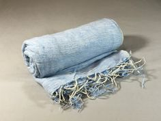 Nepalese Hand-Loomed Yak Wool Blanket,Throw,Shawl- Baby Blue & White