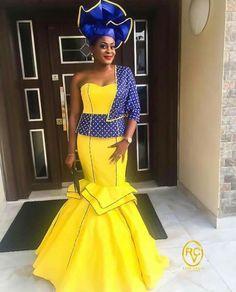 African Wear, African Women, African Dress, Beautiful Long Dresses, Nice Dresses, Beautiful Things, Doek Styles, Xhosa Attire, African Traditional Wear