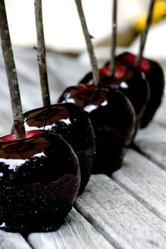 You'll Love These Blood-Red Candy Apples --> http://www.hgtvgardens.com/recipes/homemade-candy-apples-how-to?soc=pinterest