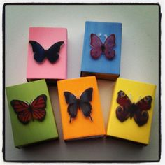 "Butterfly matchboxes with ""growth through change"" fortunes inside"