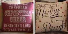 Vintage Look Linen Christmas Pillow Covers | Jane