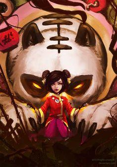 Panda Annie by fragile-creation