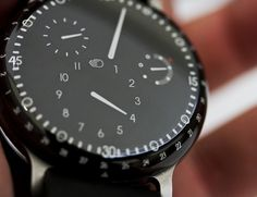 Ressence Concept Watch. Cool blending of the dial into the crystal. - online hand watch shopping, mens black and gold watch, leather watch bands *ad