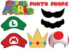 Super Mario a inspiré les Photo accessoires - plaquettes bricolage pour votre photomaton fête sur le thème des années 80, 30th Birthday Bash,