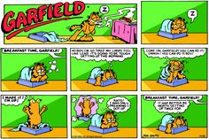 Reading the Garfield Comic on Sunday Mornings