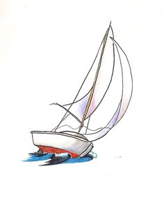 We cannot change the wind, but we can adjust the sails. Sailboat Drawing, Sailboat Art, Sailboat Painting, Sailboats, Ocean Drawing, Ocean Tattoos, Sailboat Tattoos, Nautical Tattoos, Art Sketches