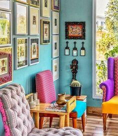 Colorful bohemian home inspiration! Would love a room like this! Limonstory design