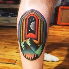 Psychedelic portal by David Côté at Imperial Tattoo in Montréal, QC : tattoos