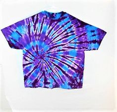 3X Tie Dye shirt// Plus Size Rave clothing// Festival wear// Trippy 3x shirt// Hippy clothes// Purple and blue tie dye t shirt// by FarmFreshTieDyeStore on Etsy