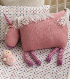 Ravelry: #16 Unicorn Pillow pattern by Amy Bahrt