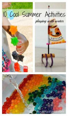 10 Cool Summer Activities ~ water play acrivities