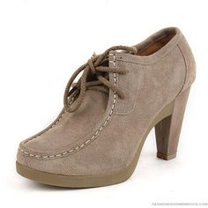 Spring And Autumn High-heeled Rough Boots