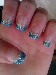 Blue and silver glitter by Sawlaiine - Nail Art Gallery nailartgallery.nailsmag.com by Nails Magazine www.nailsmag.com #nailart