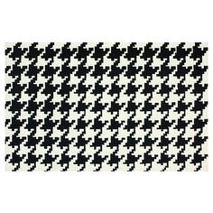 Houndstooth Rug, Black by One Kings Lane $245 #Olioboard #Product #Sales