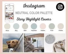 Neutral Instagram Grid, Free Instagram, Instagram Tips, Instagram Story Template, Instagram Story Ideas, Neutral Color Scheme, Color Schemes, Instagram Settings, Budget Planer