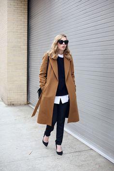 the perfect camel coat via fashionsquad