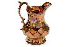 19th-C. Lustre Jug on OneKingsLane.com Tea Set, Luster, Bristol, Pottery, English, Silver, Stuff To Buy, Ceramica, Pottery Marks